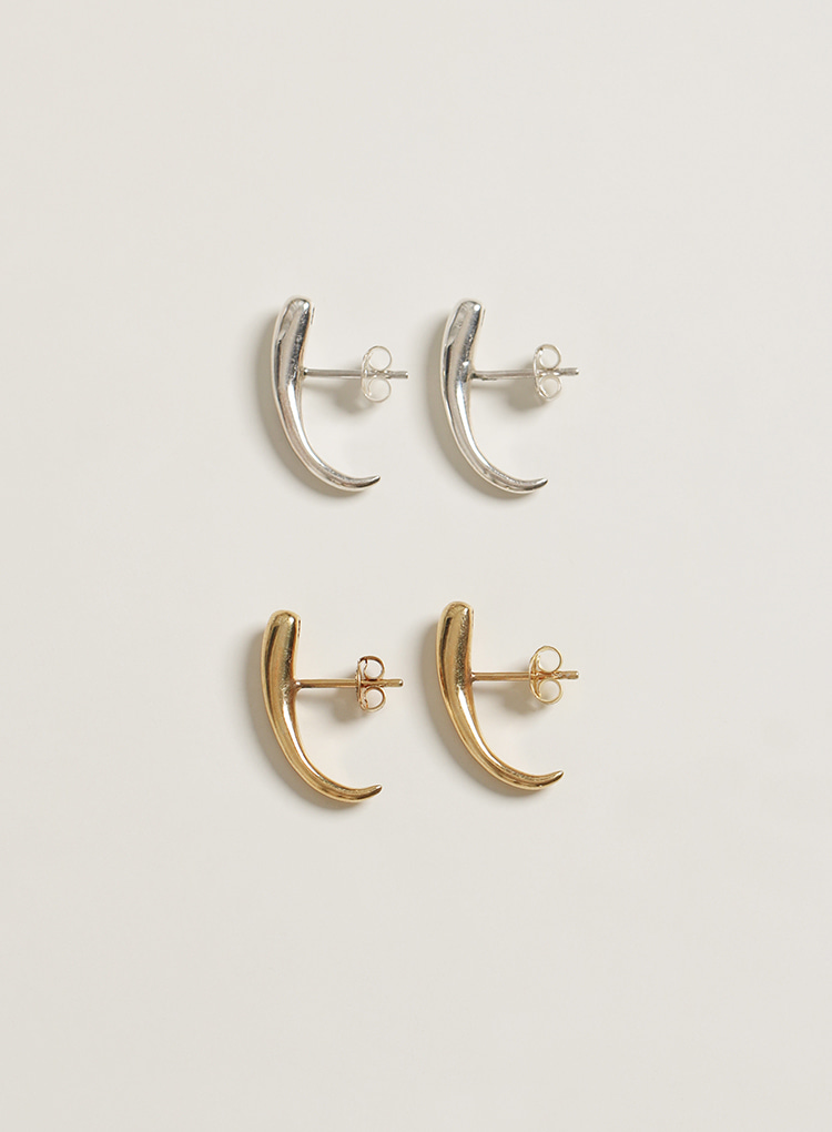 [92.5 silver] Bold cuff earring (2color)