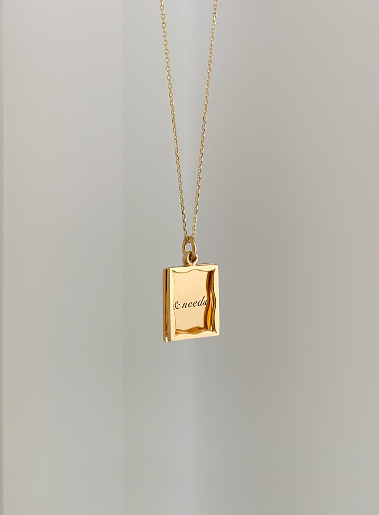 [92.5 silver] Square wish necklace (2color)