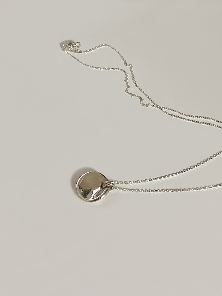 [92.5 silver] Melt circle necklace (2color)