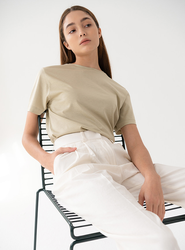 Real silk t-shirt (olive)