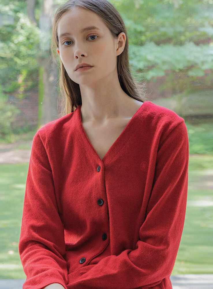 Cashmere cardigan (red)