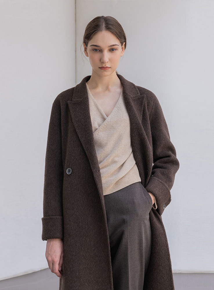 Fox handmade long coat (brown)